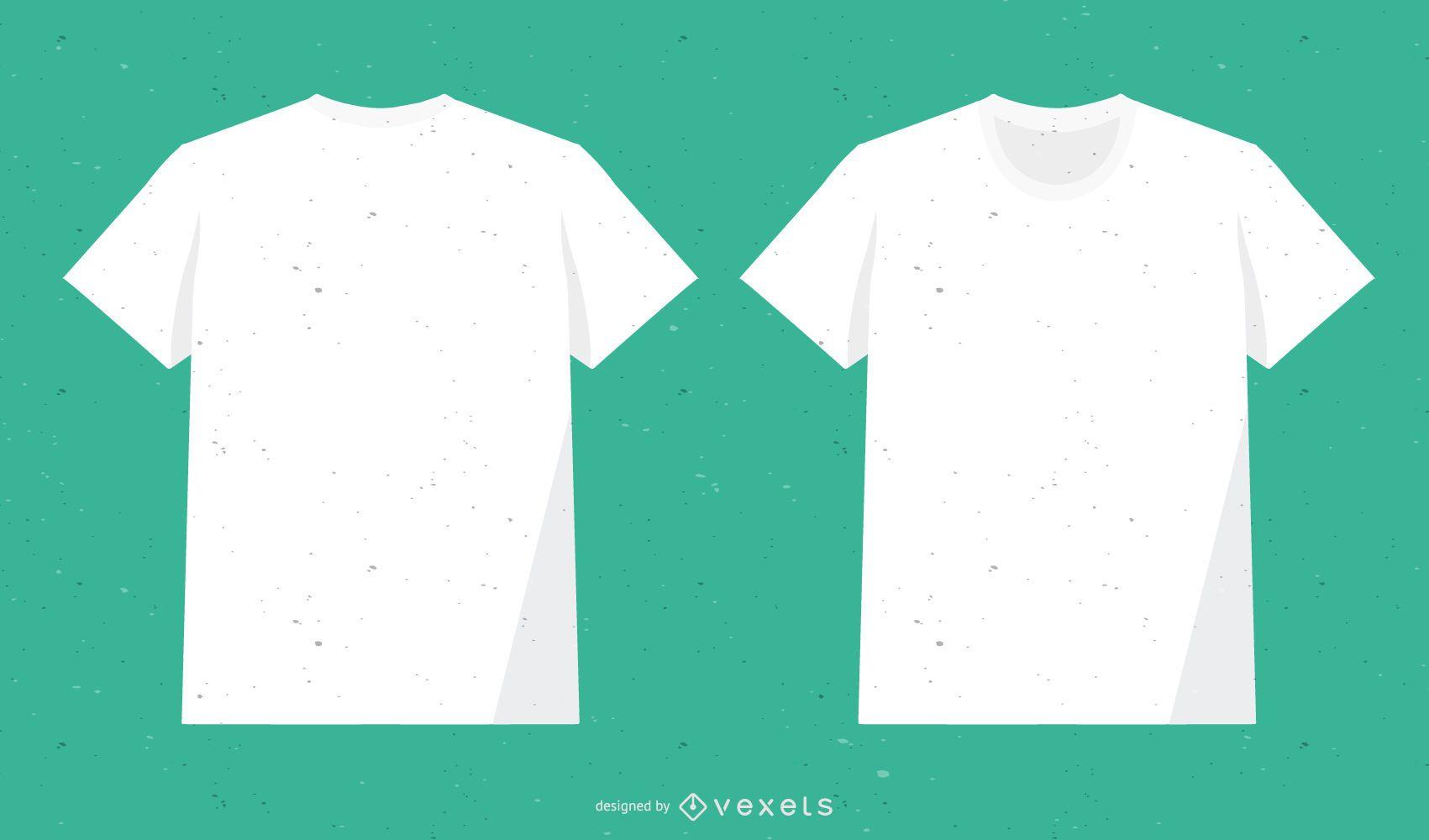 Vectores de camiseta blanca de algodón