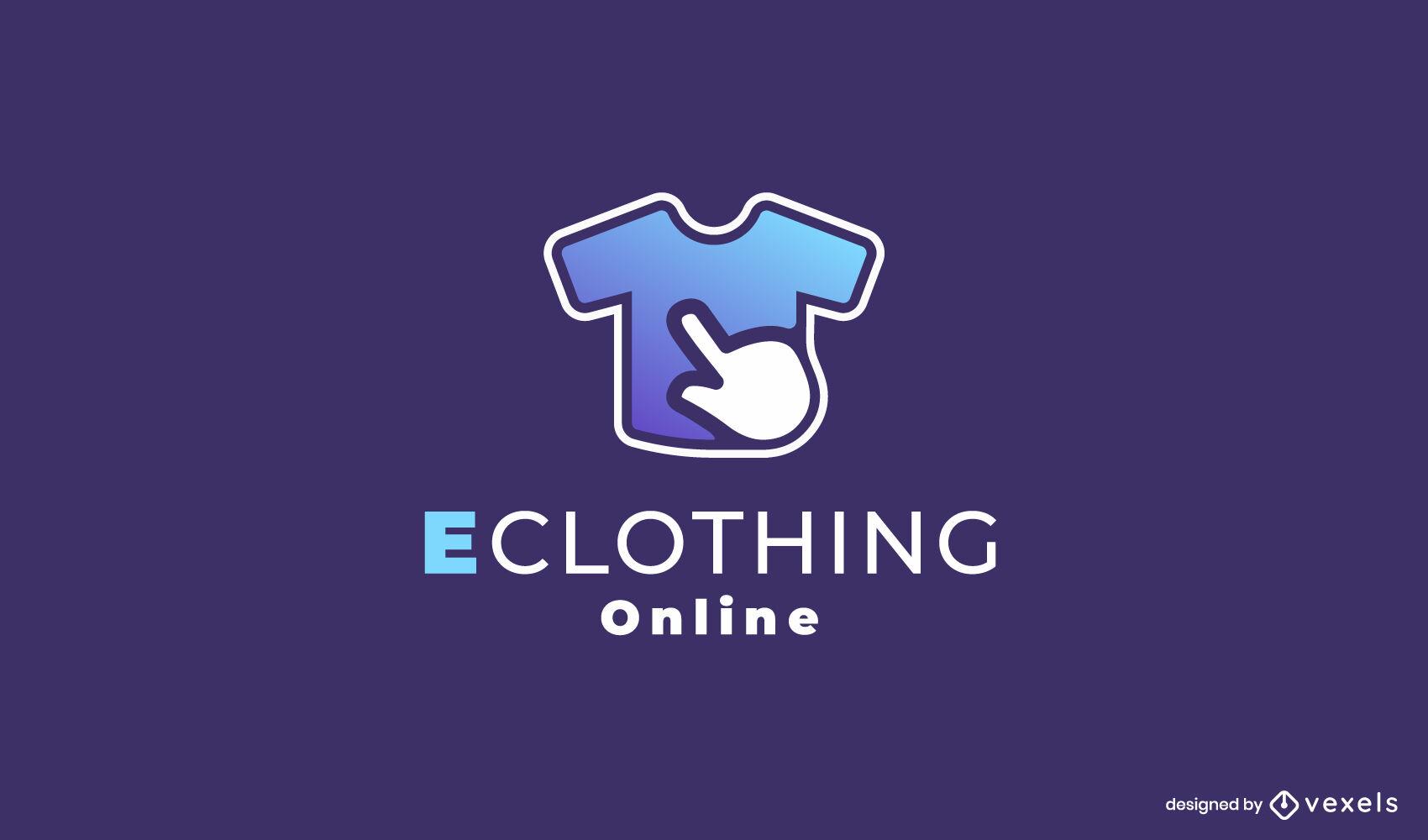 Clothing online store t-shirt gradient logo