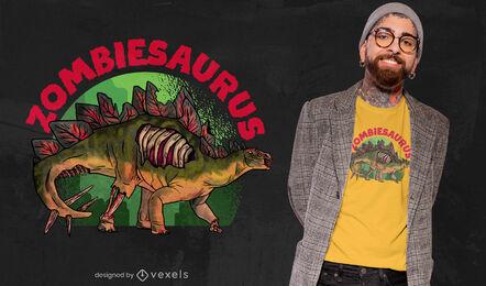 Zombie dinosaur t-shirt design