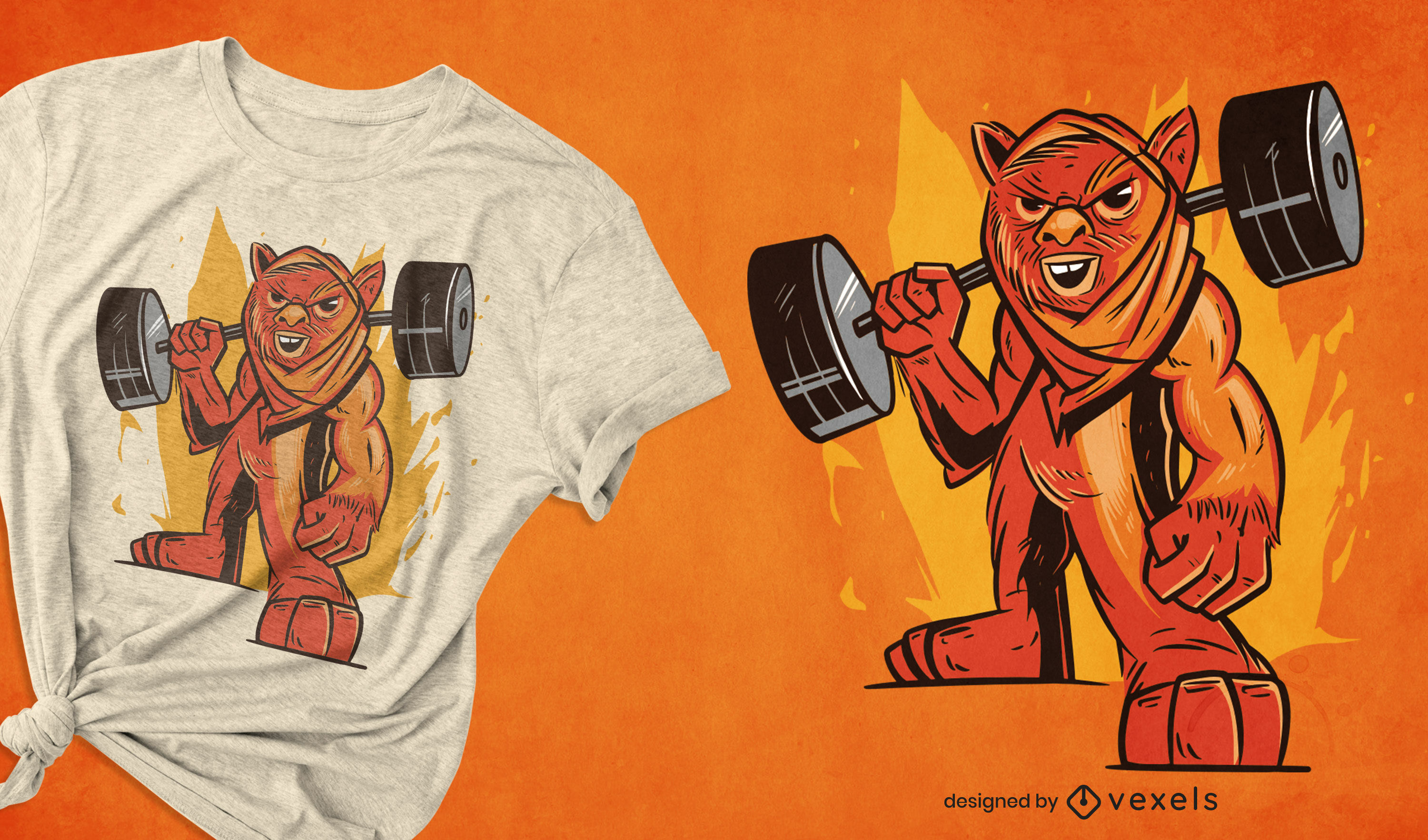 Fitness weightlifting t-shirt design