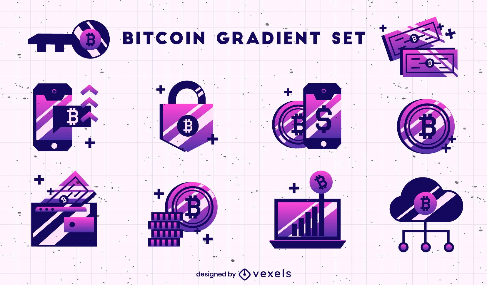 Conjunto de elementos gradiente de bitcoin