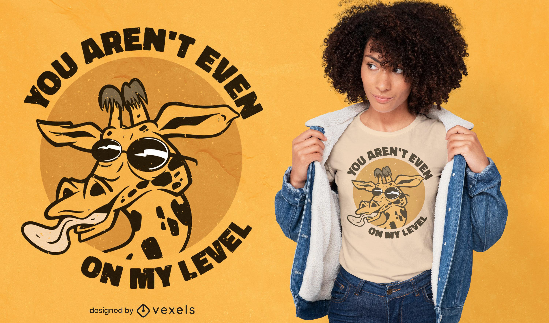 Du bist nicht auf meinem Niveau T-Shirt-Design
