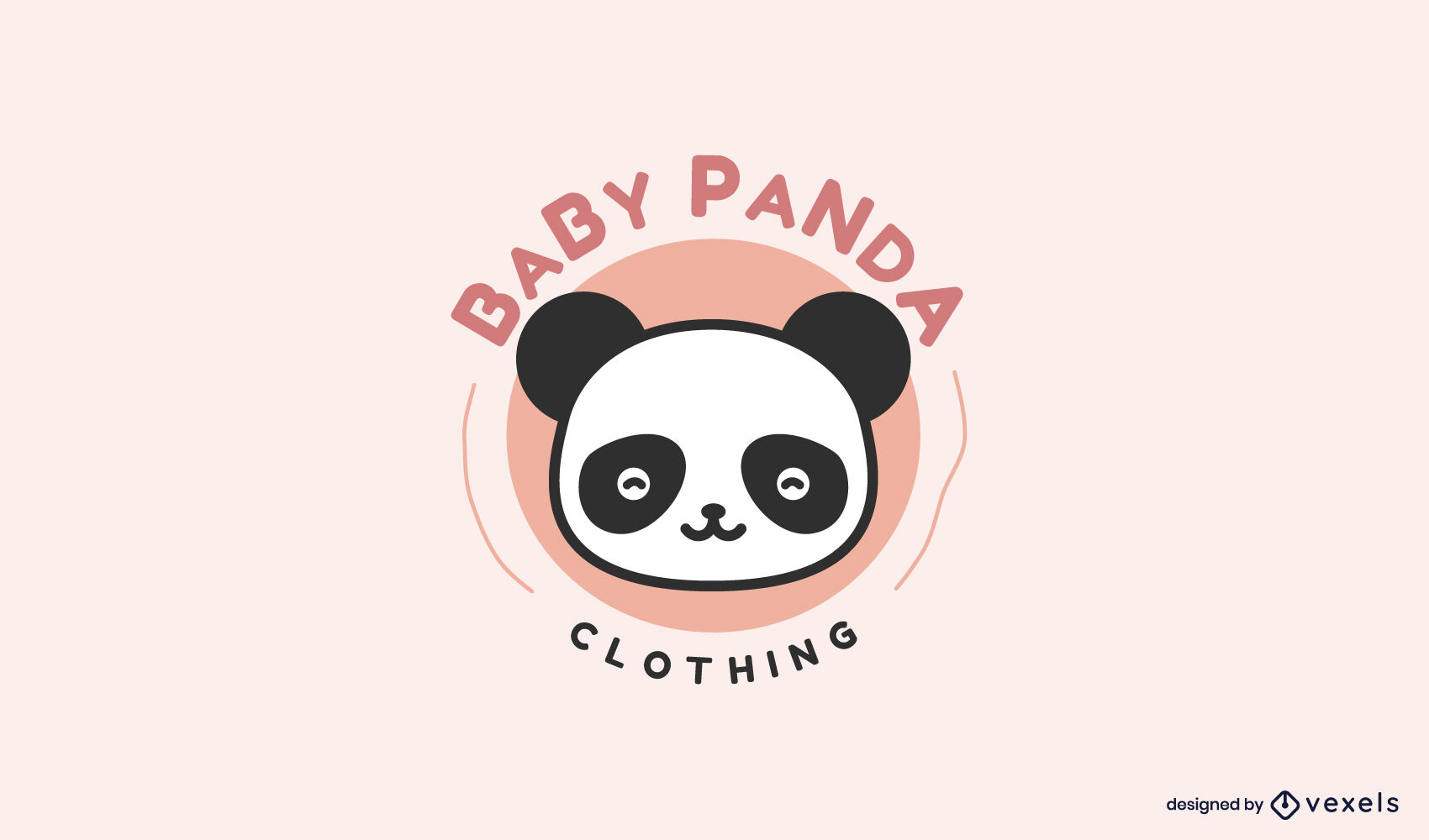 Plantilla de logotipo lindo bebé panda