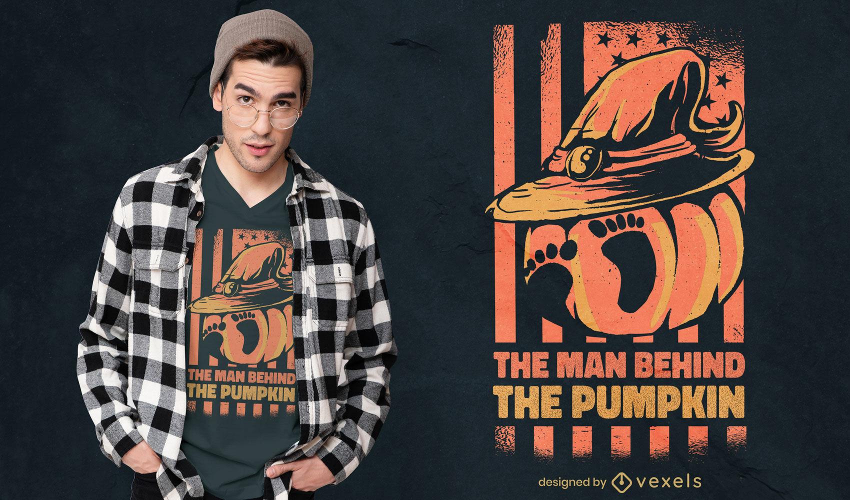 Pumpkin footprints t-shirt design