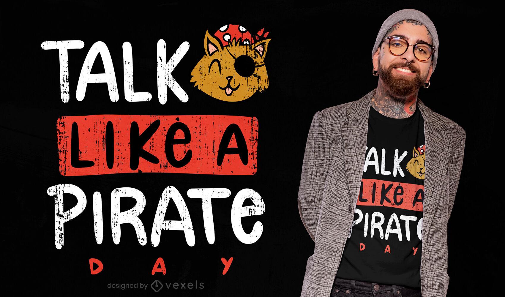 Talk like pirate day t-shirt design