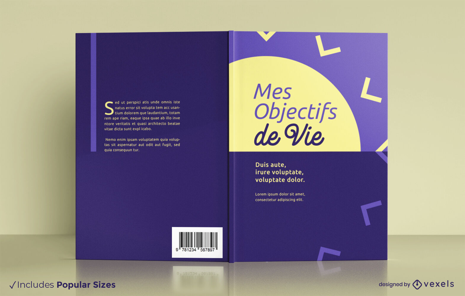 Productivity journal book cover design