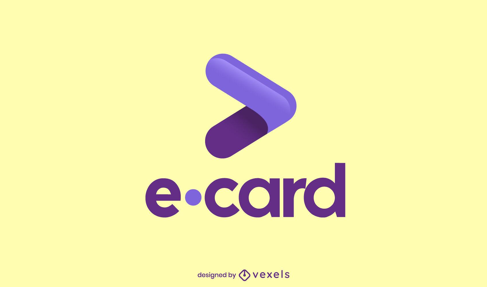 Logotipo brillante de flecha de dinero electrónico