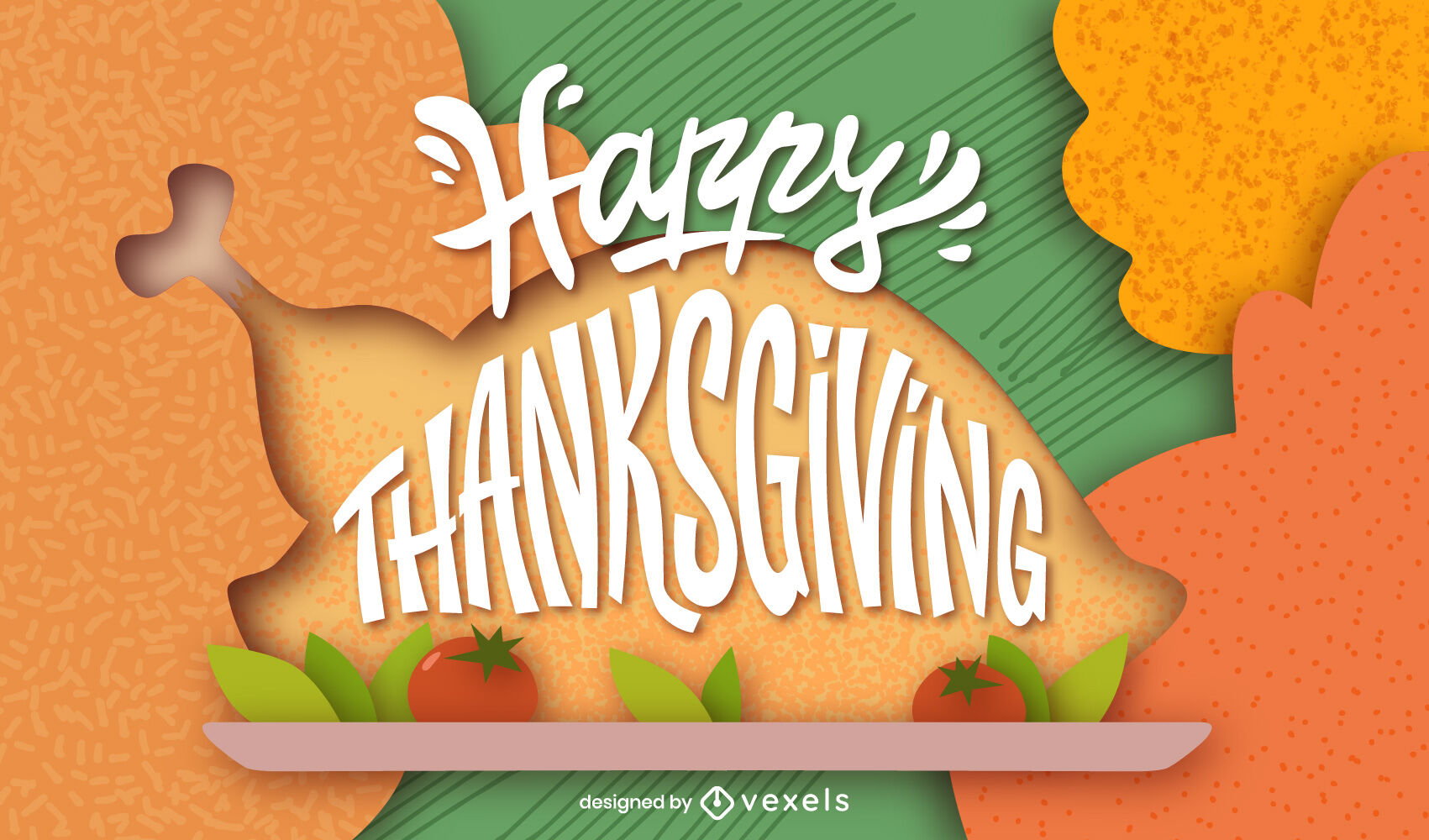 Thanksgiving holiday lettering design