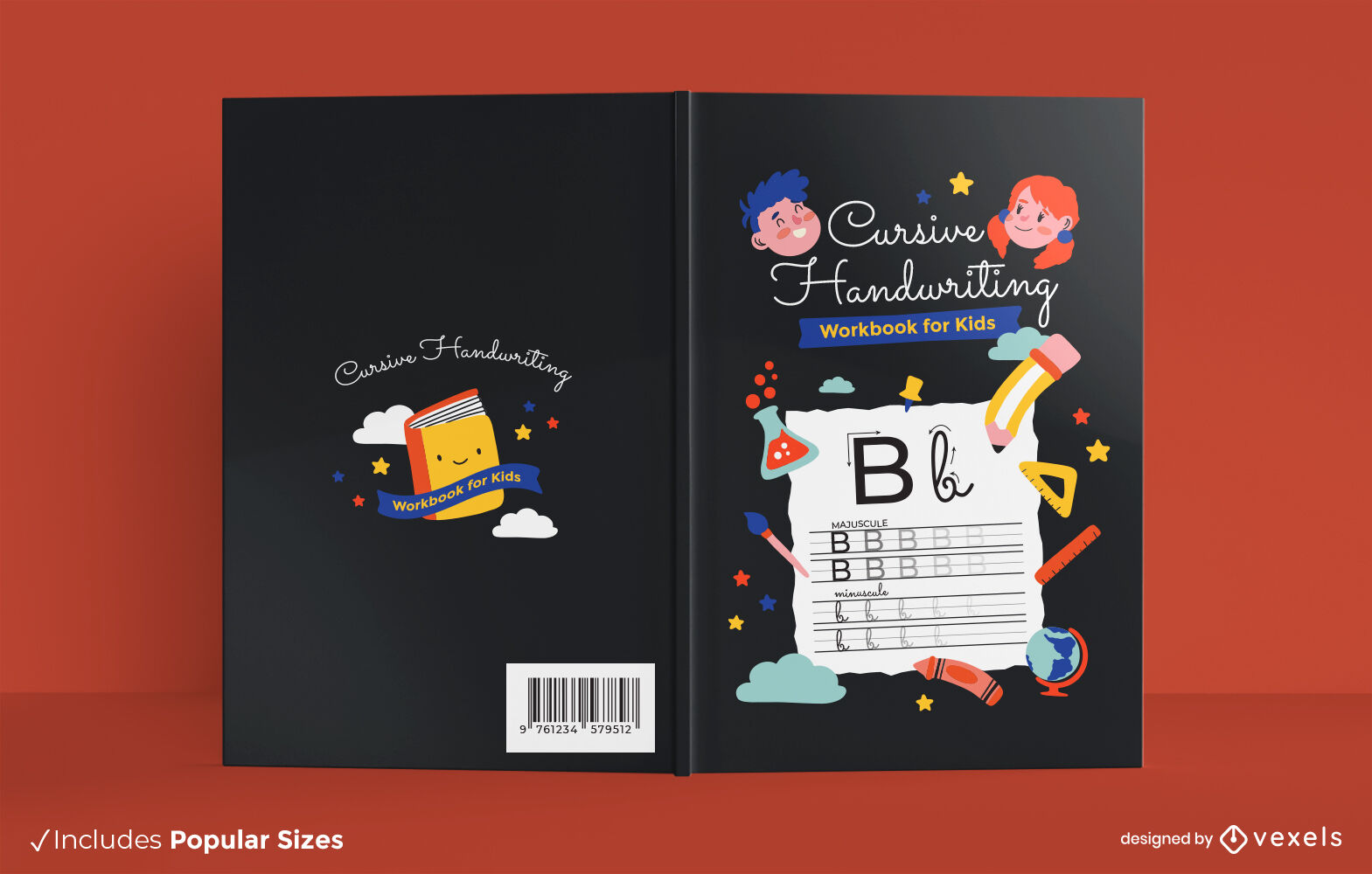Design de capa de livro infantil manuscrito