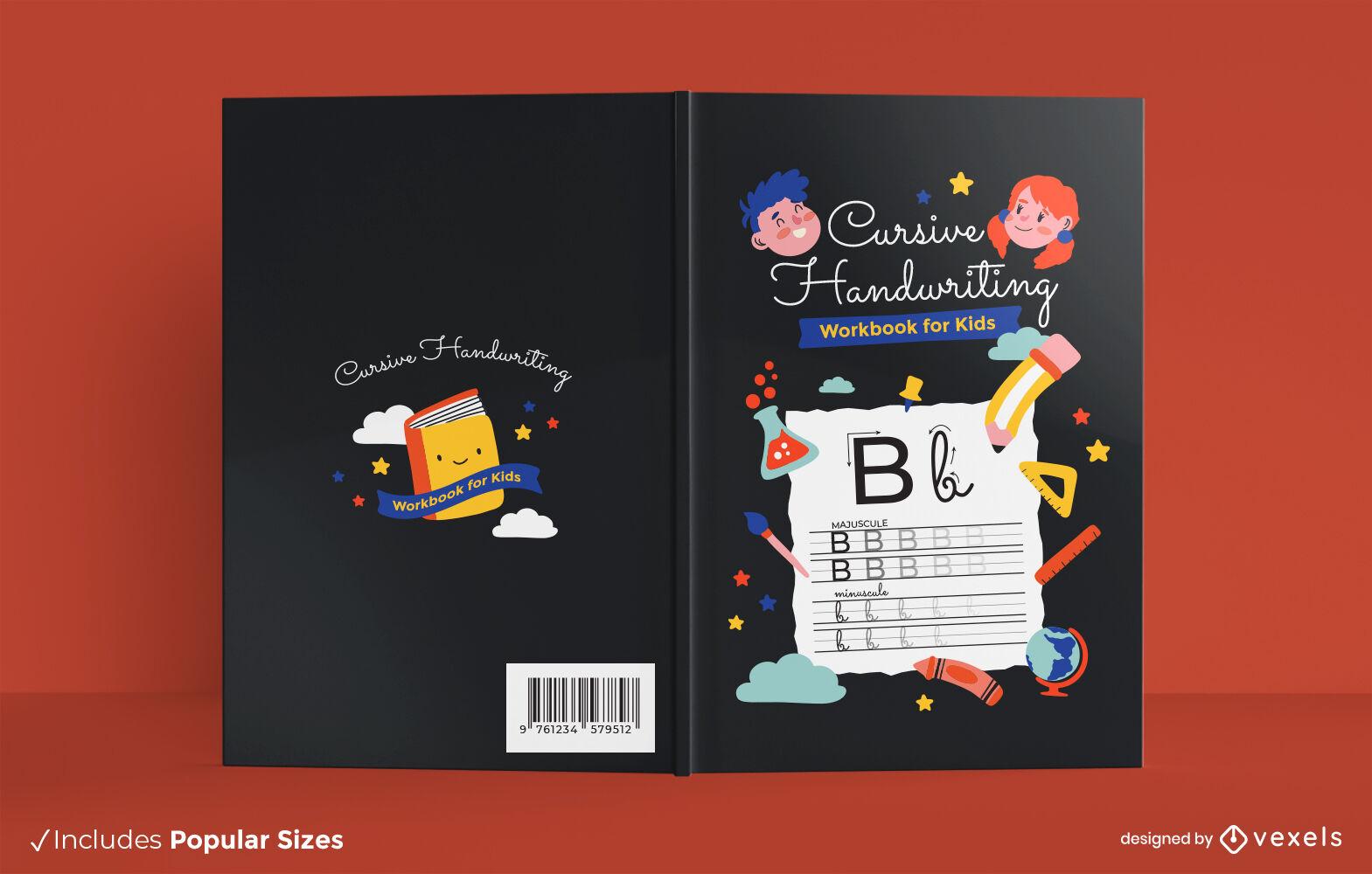 Handwriting children book cover design