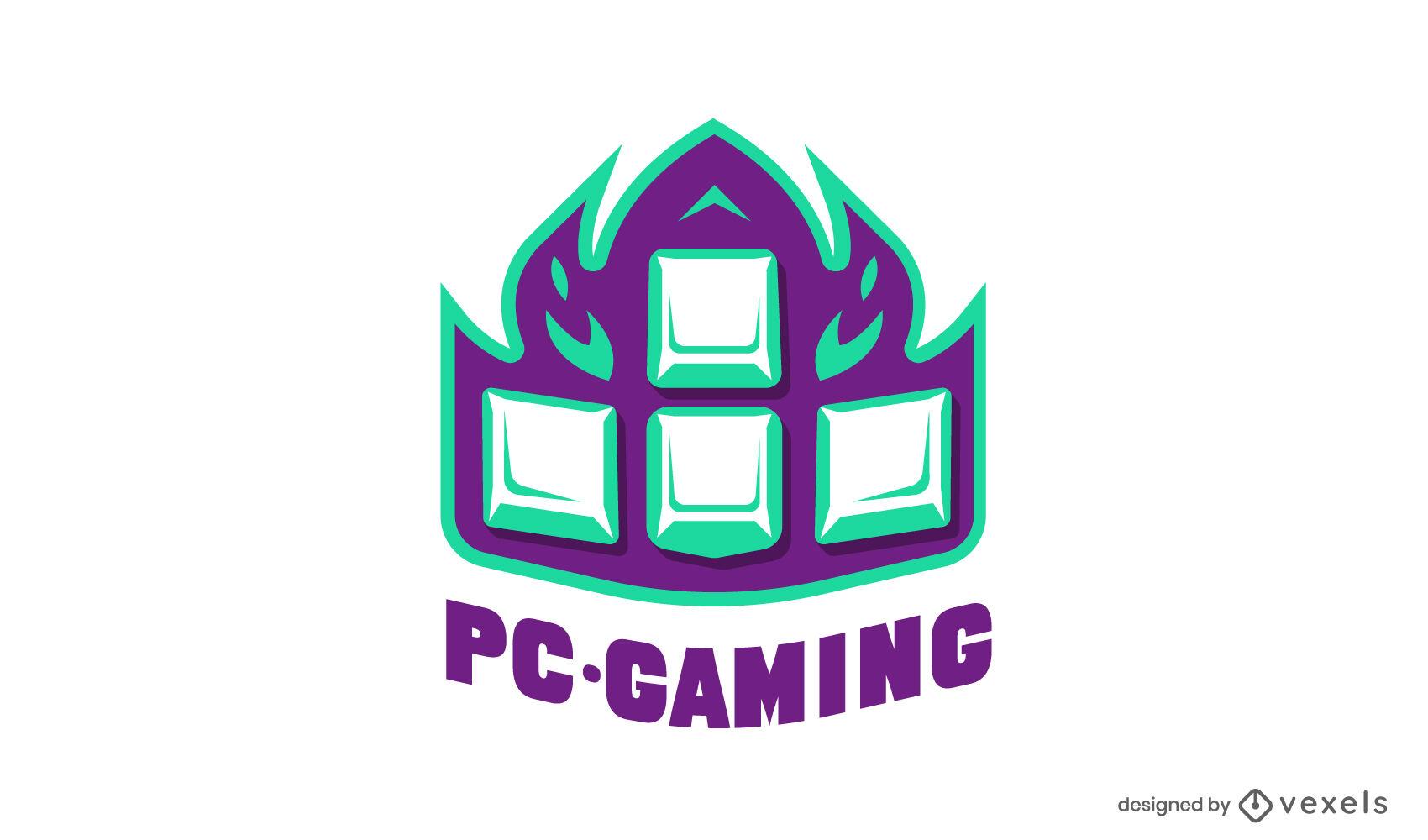 Keyboard arrows gaming logo