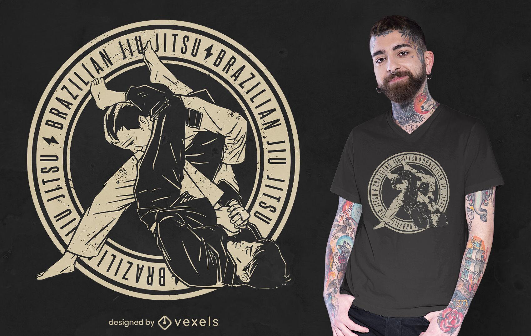 Design de camisetas brasileiras de Jiu Jitsu