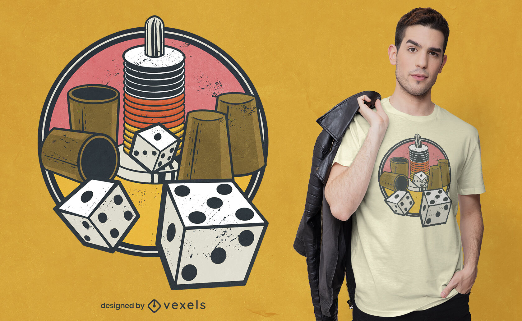Board and dice games t-shirt design
