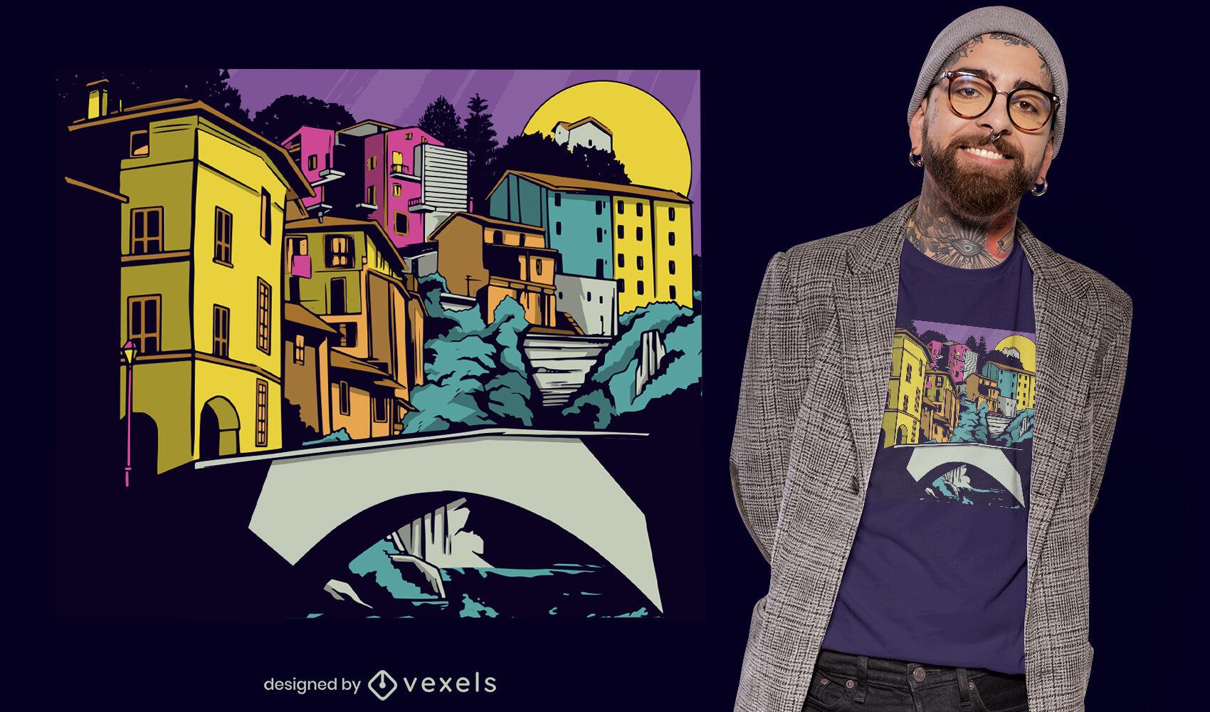 Diseño de camiseta de la ciudad de Guanajuato