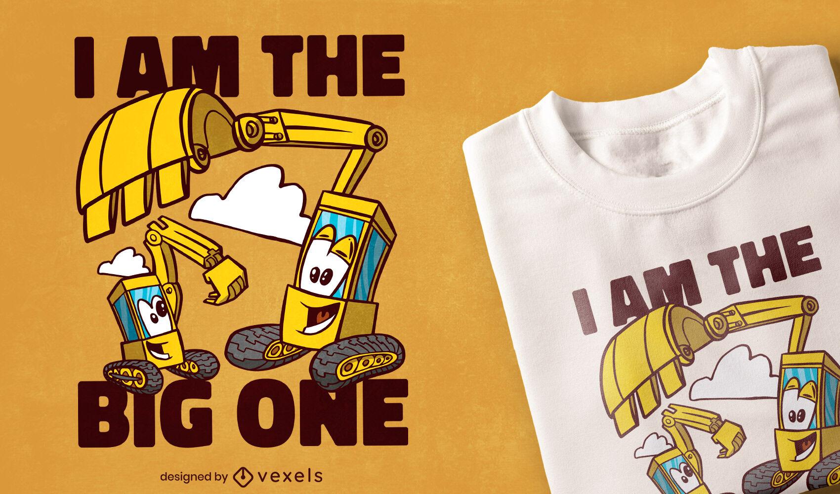 Diseño de camiseta de excavadora de hermano mayor.