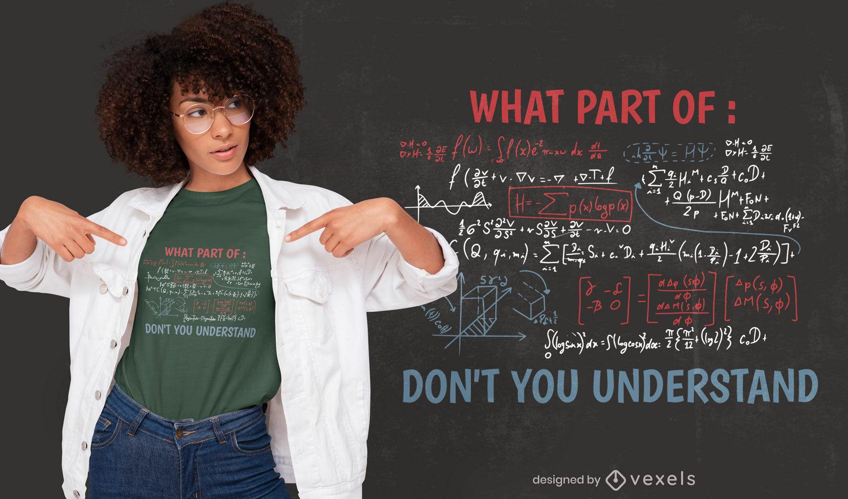 Diseño de camiseta de ecuación compleja