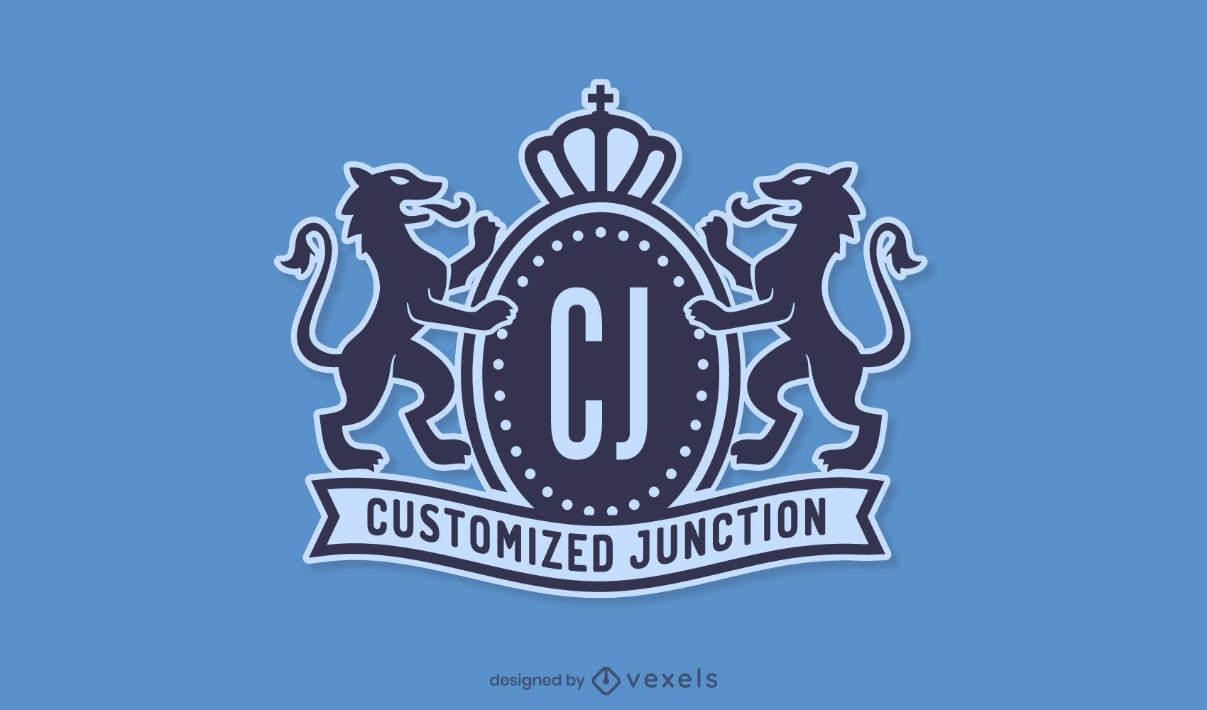 Elegantes Kronen-Business-Logo-Design