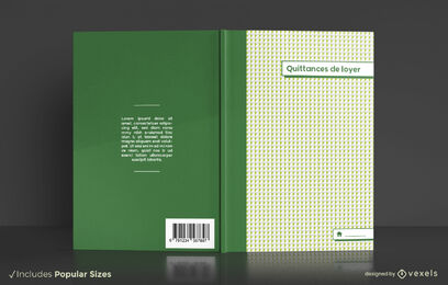 Rent receipt organizer book cover design