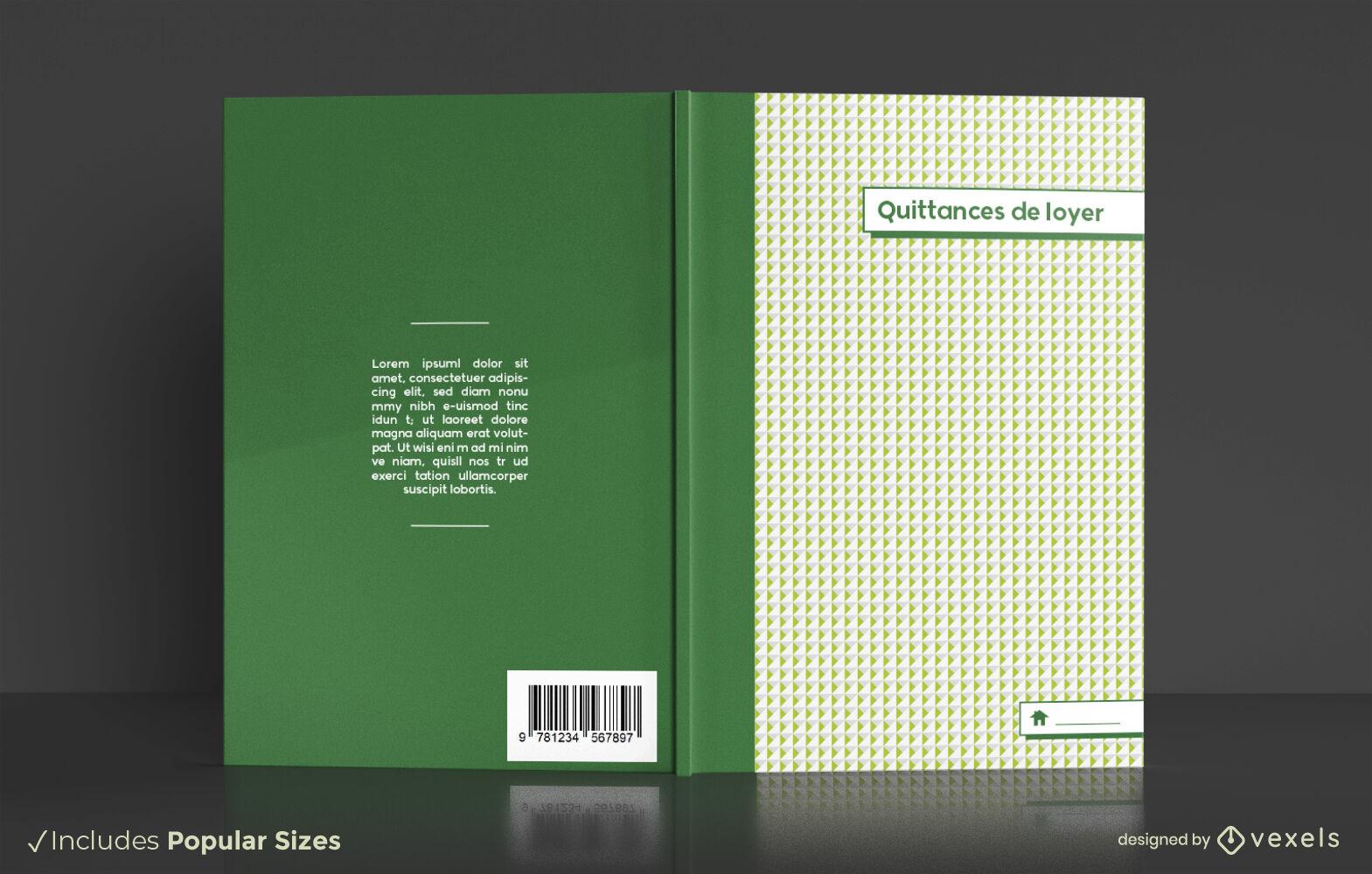 Diseño de portada de libro organizador de recibos de alquiler