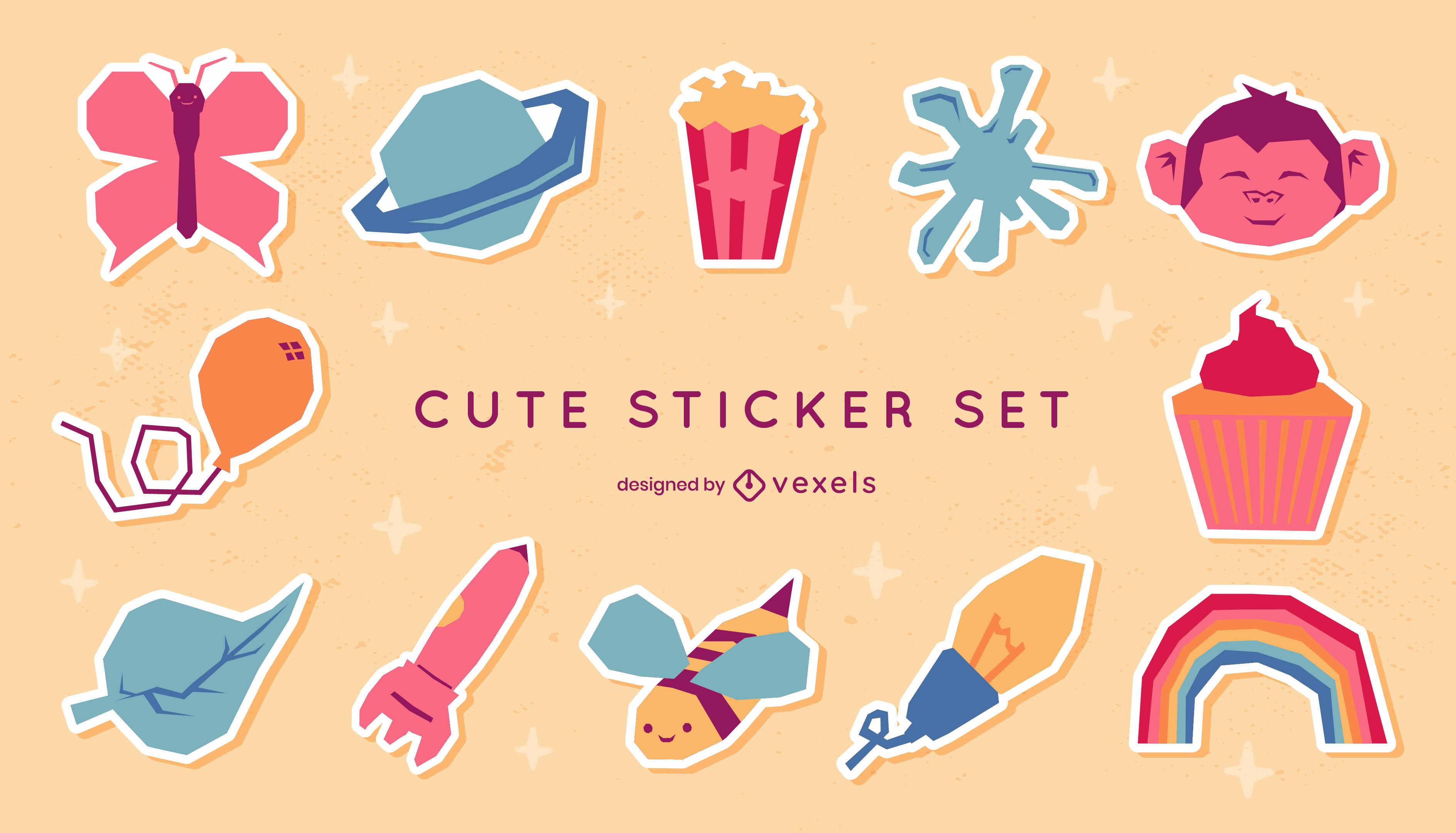 Süßes Sticker-Paket