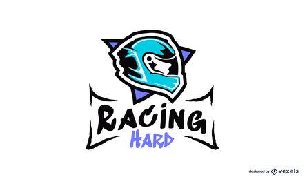 Racing helmet illustration logo