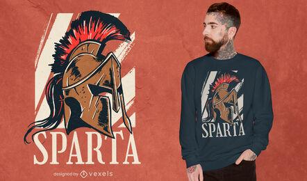 Spartan helmet historical t-shirt design