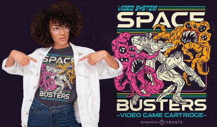 Space alien monsters t-shirt design