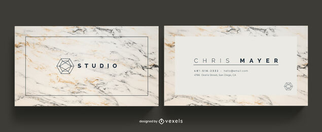 Clear marble business card template