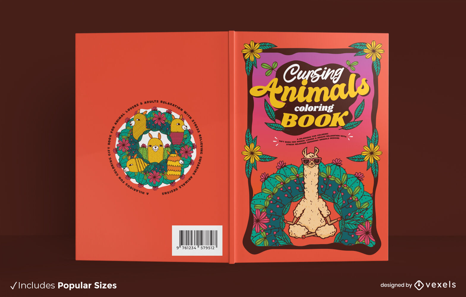 Animais amaldiçoados para colorir desenho de capa de livro