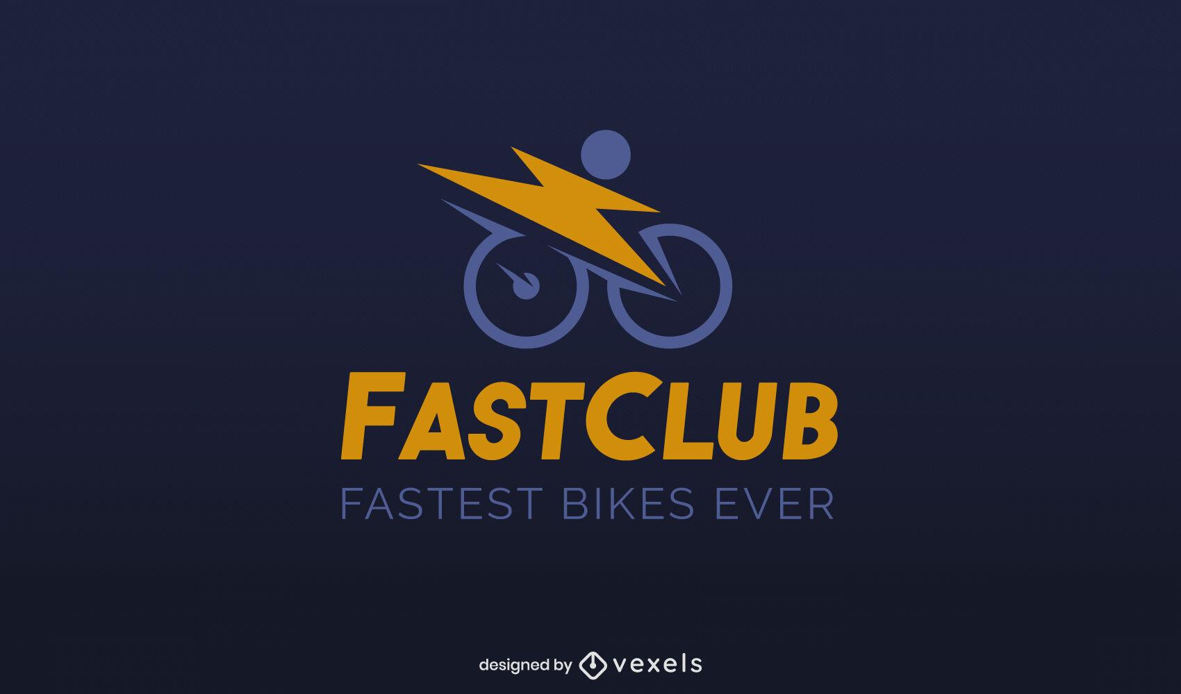 Logotipo plano de bicicleta rel?mpago