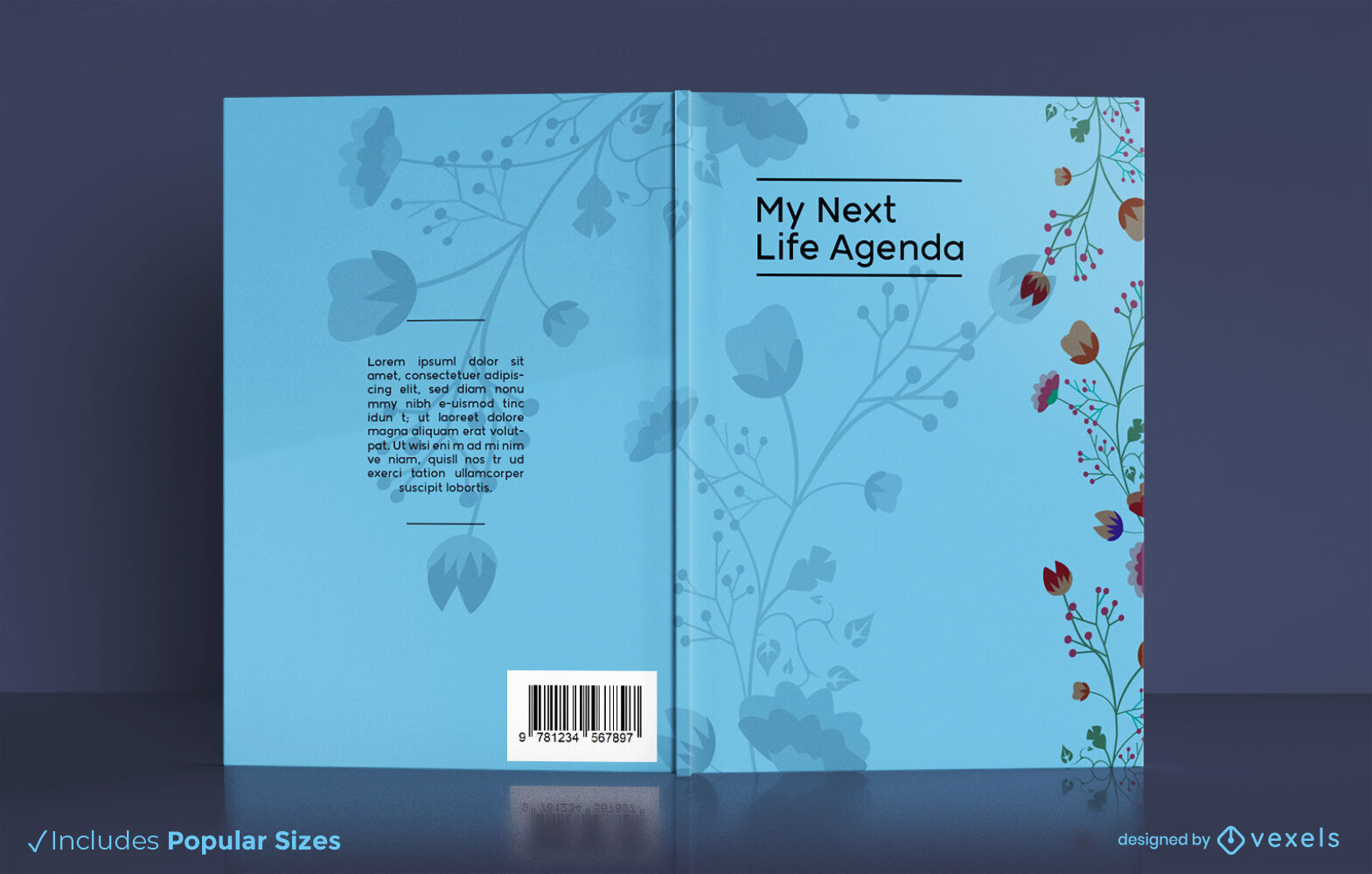 Life diary nature floral book cover kdp