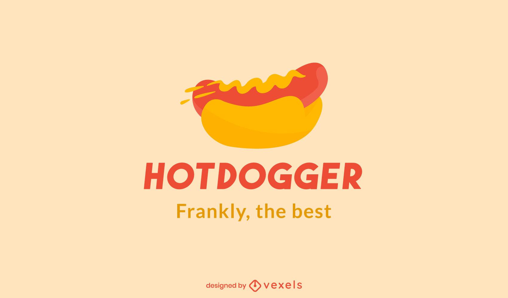 Hot dog food logo template