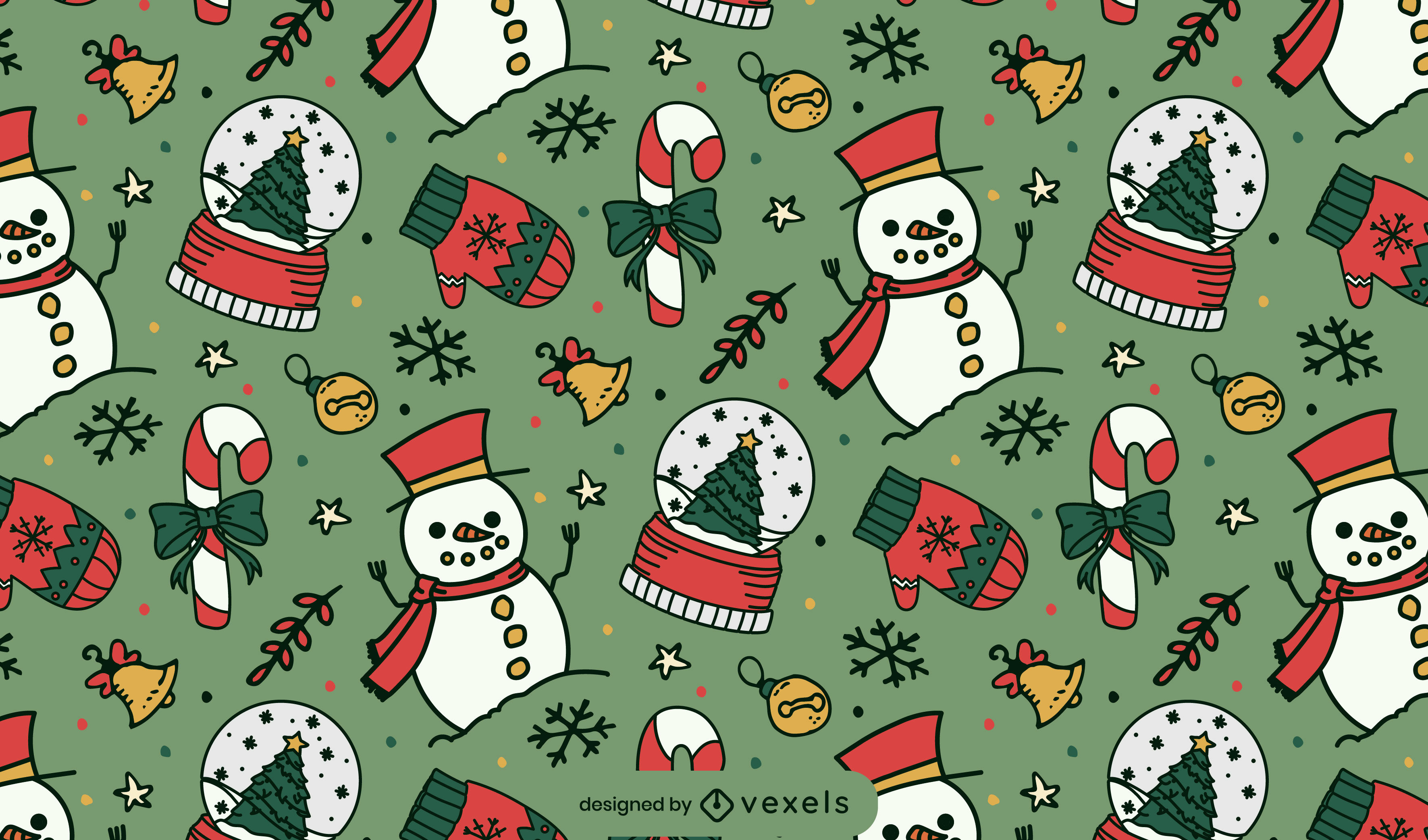 Christmas holiday cute pattern design