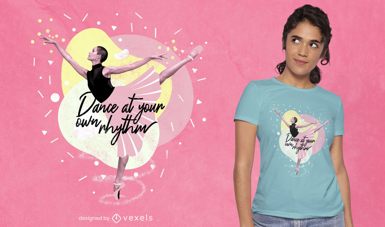 Camiseta fotográfica de menina dançarina de balé psd