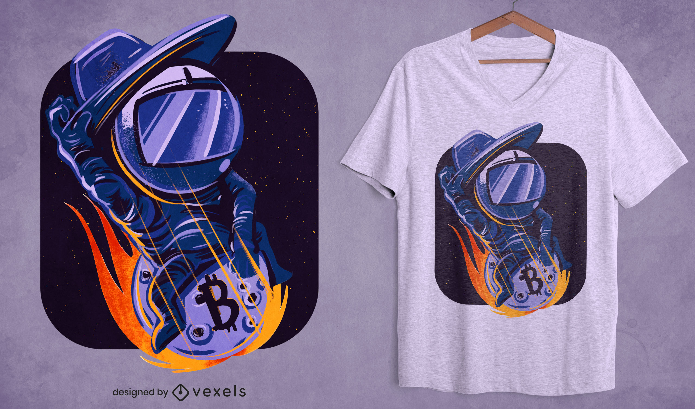 Cowboy astronaut bitcoin t-shirt design