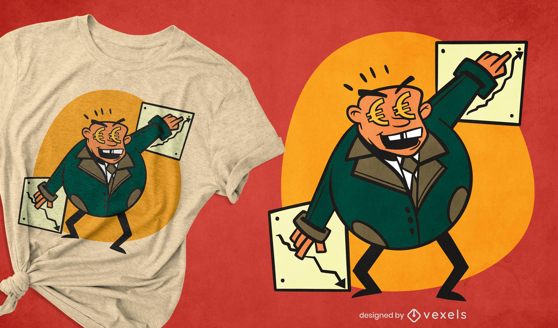 Money businessman t-shirt design