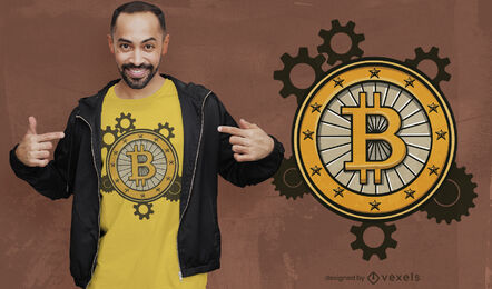 Bitcoin gears t-shirt design
