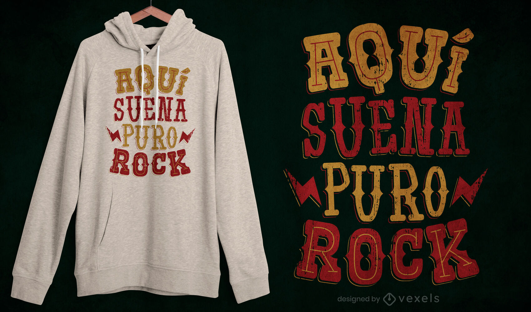 Rock quote spanish lettering t-shirt design