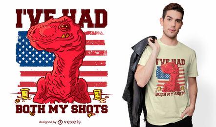 Diseño de camiseta de dos tiros.