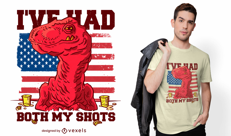 T-Shirt-Design mit zwei Schüssen