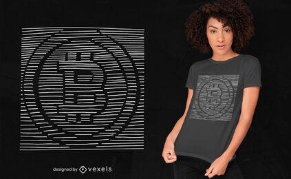3d bitcoin t-shirt design