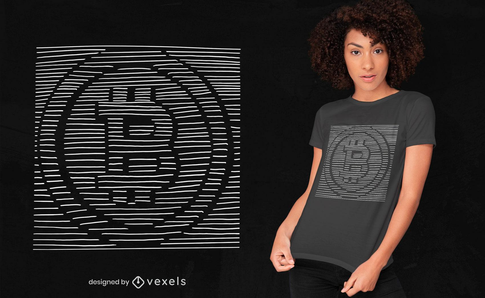 Diseño de camiseta 3d bitcoin