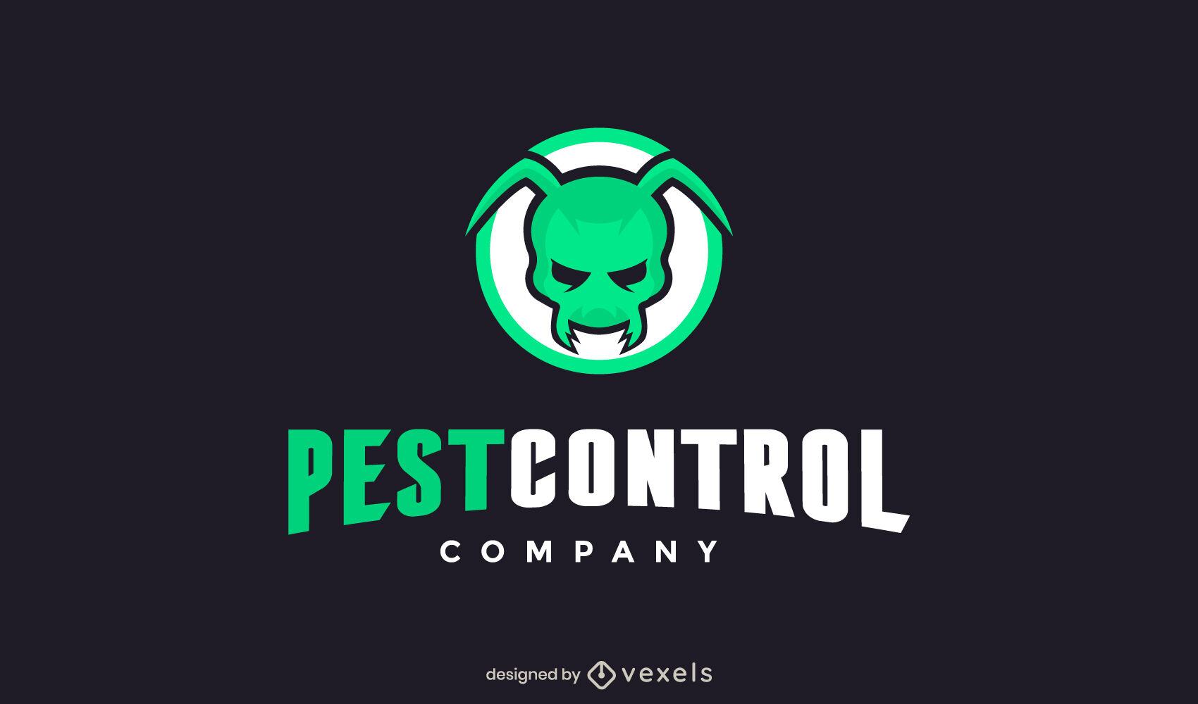 Logotipo de plagas de insectos malvados de trazo de color