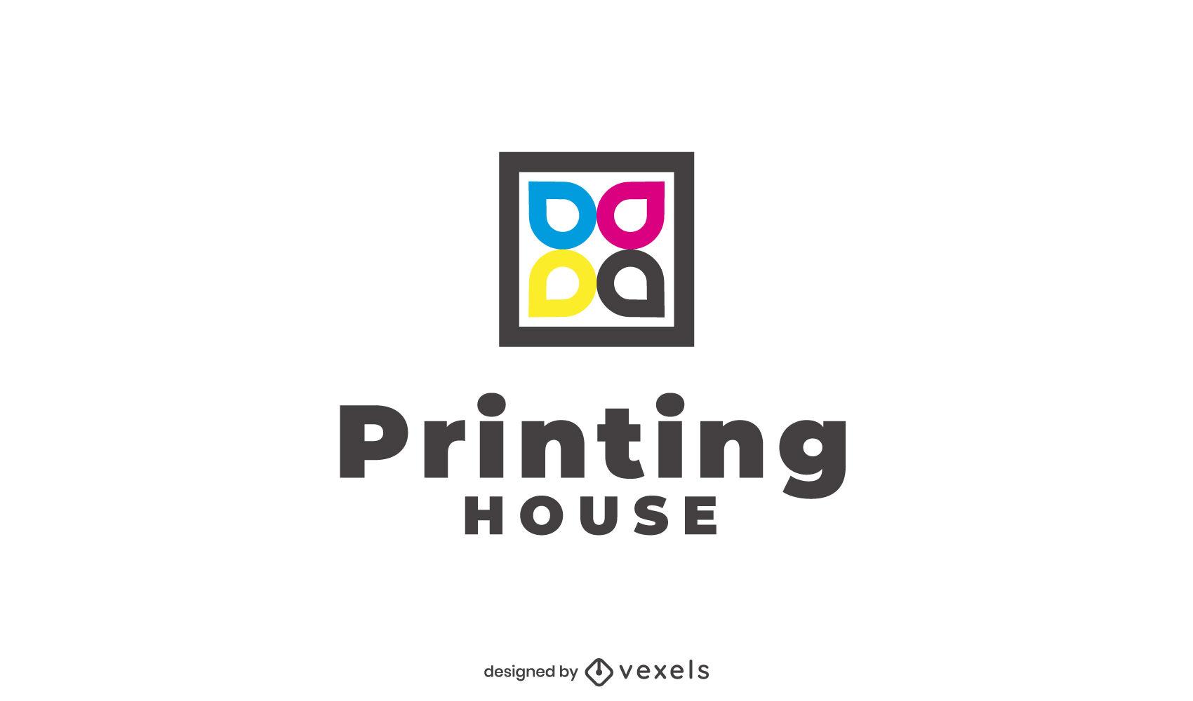 Logotipo de trazo de tintas de impresora