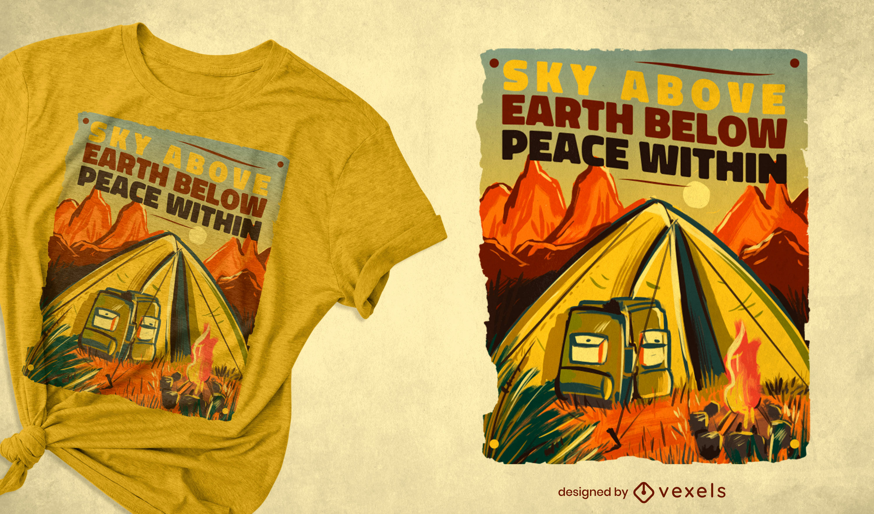 Camping tent quote t-shirt design