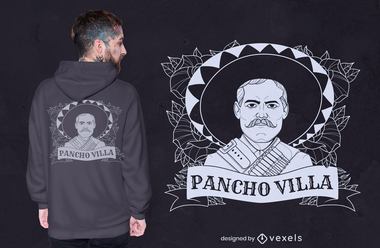 Diseño de camiseta Pancho Villa