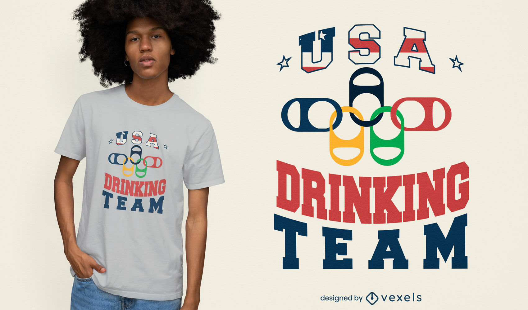 USA drinking team t-shirt design