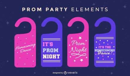 Prom party quotes tags flat
