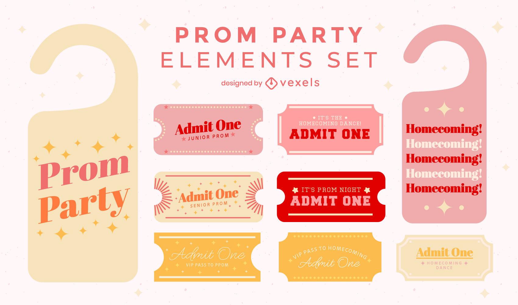 Prom party quotes door hangers flat