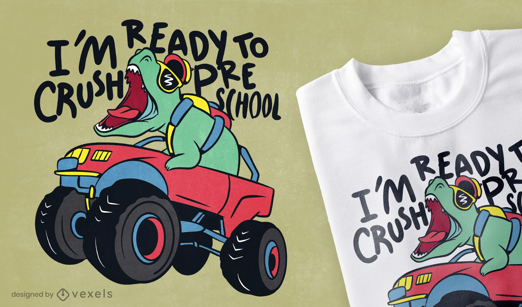 Diseño de camiseta preescolar Crush